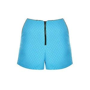 Topshop Quilted Zip Front Shorts